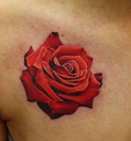 tatuaggi fiori 3d tatuaggio rosa 3d tatuaggi tattoos