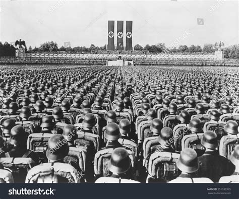 hitler nuremberg nazi rallies nazi german soldiers 1936 nuremberg rally stock photo