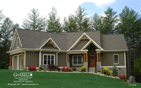 Craftsman Mountain Home Plans by Mill Cottage House Plan 11115 G Front Elevation