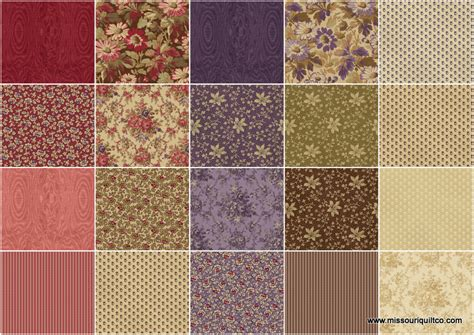 Missouri Quilt Company Fabrics by Fresh Lilacs Quarter Bundle Debbie Beaves Maywood
