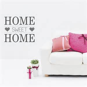 Home Sweet Home Wall Sticker Home Sweet Home Wall Stickers By The Binary Box