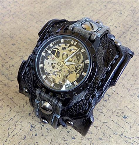 skeleton leather steunk cuff s