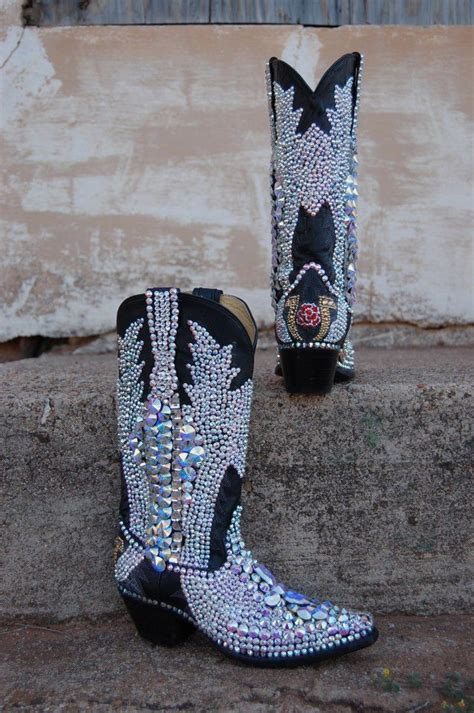 boots and bling bling boots heel toe dosey doe
