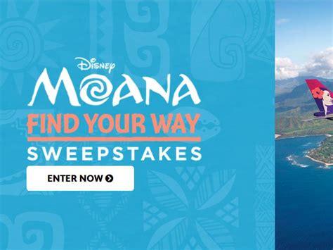 Moana Sweepstakes - disney movie rewards find your way moana sweepstakes
