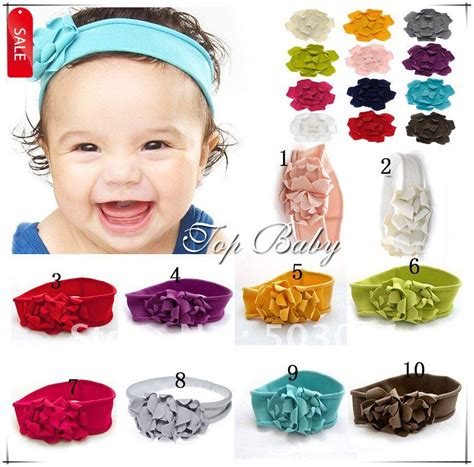 Handmade Baby Headbands - 50 pcs 10 colors wholesale baby headband toddler handmade