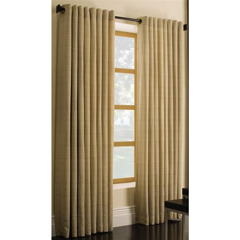 lowes window curtains shop style selections marsden 84 in l solid gold grommet