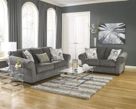 Living Room Furniture Groupings Makonnen Charcoal Sofa Loveseat 78000 35 38 Living Room Groups Furniture Zone