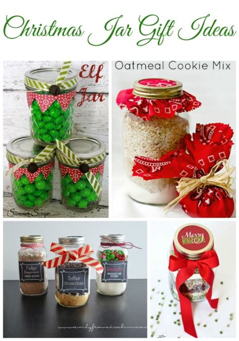 christmas jar crafts and gifts roundup food crafts and