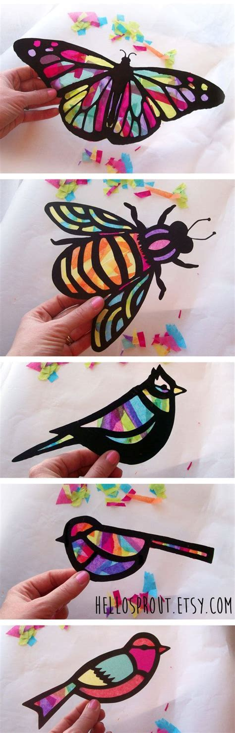 Arts And Crafts With Tissue Paper - 25 best ideas about crafts on