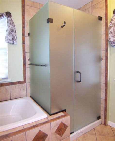 Etched Glass Shower Doors by Privacy Shower Doors Etched Glass Shower Doors