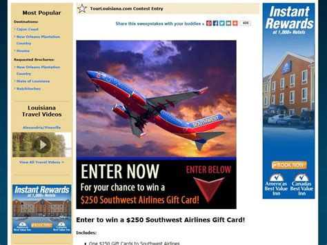 Southwest E Gift Card - southwest airlines gift card sweepstakes sweepstakes fanatics