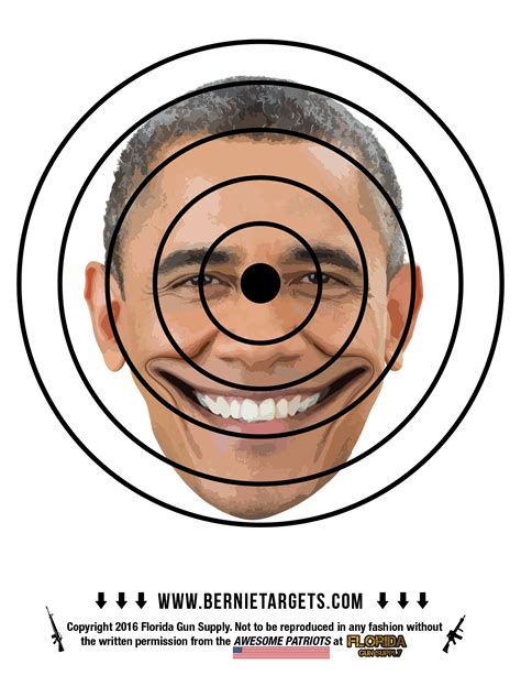 printable targets obama bring some well needed quot hope and change quot to your obummer