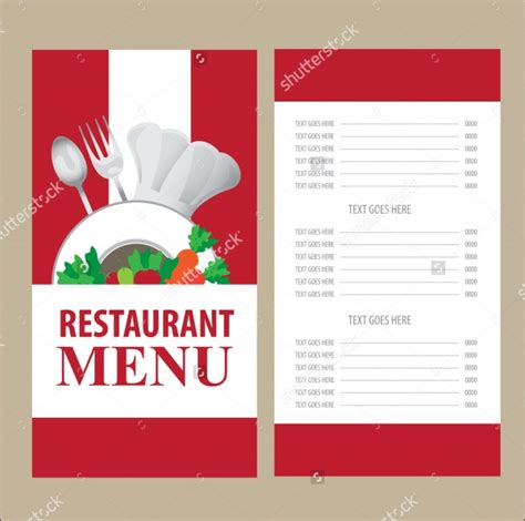 hotel menu card template 20 menu card designs psd vector eps