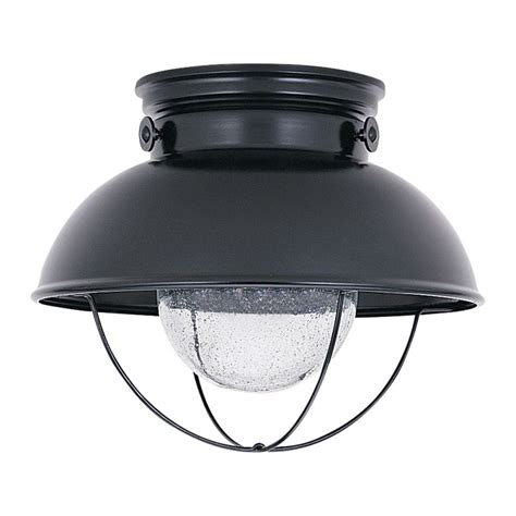 sea gull lighting 886991s 12 black sebring outdoor led