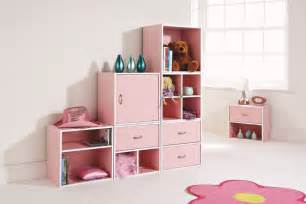 storage cube system pink bedroom play room inter