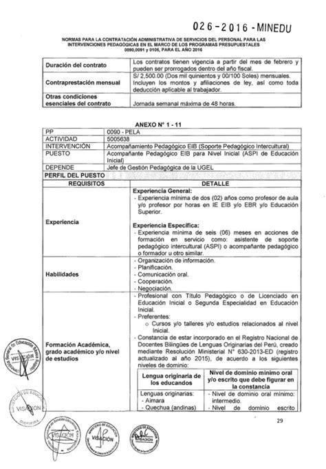 resolucion ministerial n199 2015 minedu rsg n 176 026 2016 minedu norma para contratar acompa 241 antes
