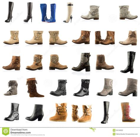 boots types collection of various types boots stock photo image