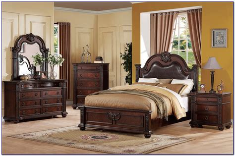 dark wood bedroom set dark cherry wood bedroom furniture izfurniture