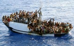 fishing boat migrants taken to italian island telegraph