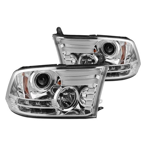 2012 dodge ram 1500 headlights 09 12 dodge ram chrome led projector headlights with light