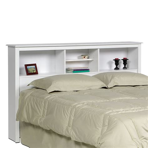 bed shelf headboard monterey white double queen bookcase headboard