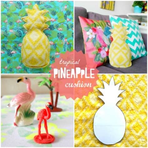 home decorating sewing projects tropical pineapple cushion by hipaholic project sewing