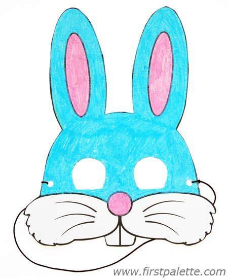Easter Mask Template by Printable Animal Masks Craft Crafts Firstpalette
