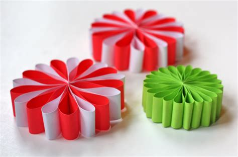 How To Make Paper Ornaments - paper flower ornaments how about orange