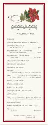 winter theme wedding program snowflake church directory