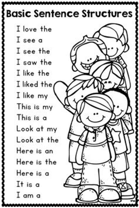 my pattern book kindergarten mother hen sentence making writing sentences