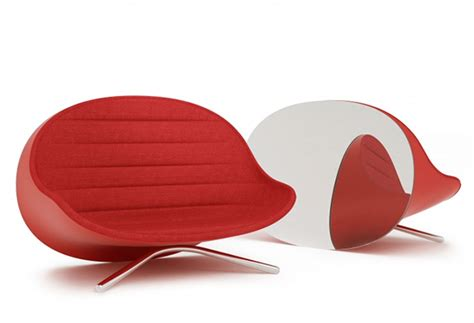Small Red Sofa By Raison Pure The Back Is A Mirror