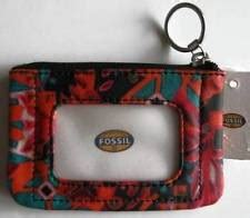 Nwt Fossil Key Per Coated Canvas Zip Id Coin Purse Owl fossil key per coin purse ebay