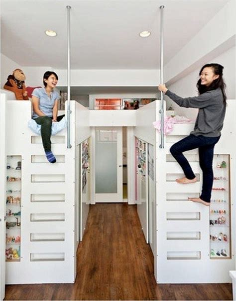 loft bed over closet these duo loft beds over walk in closets provide personal