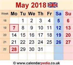 Calendar 2018 Png File Calendar May 2018 Uk Bank Holidays Excel Pdf Word Templates