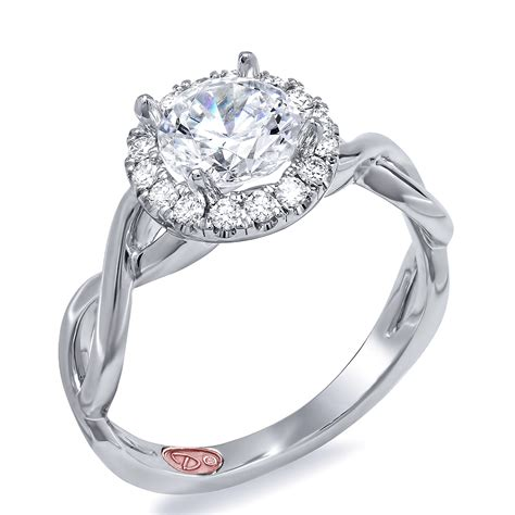 twisted halo engagement ring demarco bridal jewelry