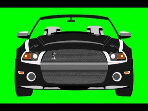 car accelerates/driving royalty free green screen