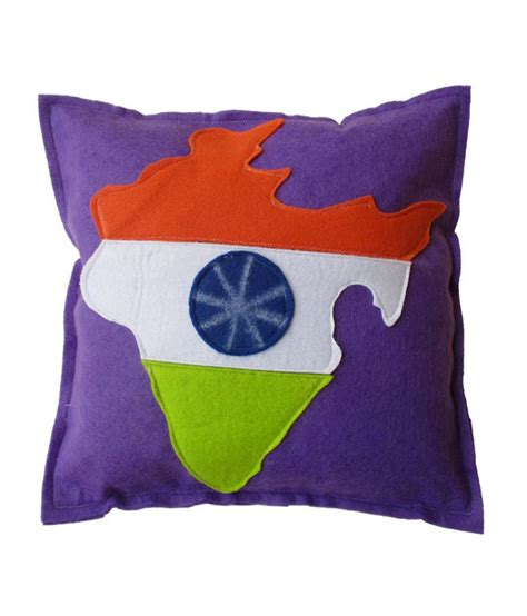 globe purple polyester fill pillow best price in india on