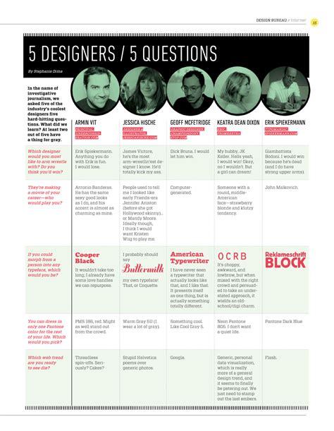 design bureau magazine design bureau magazine 5 designers 5 questions