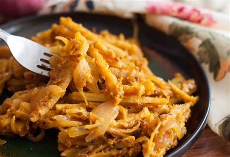 lotus stem recipe himachali bhey recipe stir fried lotus stem recipe by