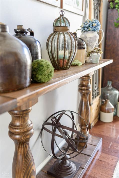 diy farmhouse console table  navage patch