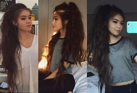 hairstyles for school vivian v long messy ponytail youtube