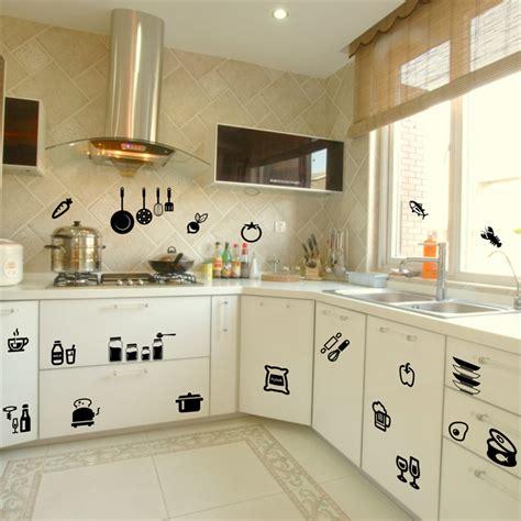 Wallsticker Classic Kitchen Tools Sk31004 kitchen tools wall sticker home removable decal wall stickers vinyl kitchen quote decor in