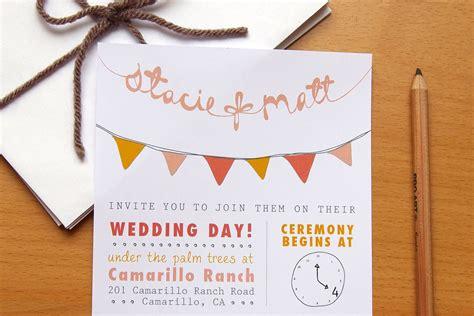diy invitation ideas wedding budget wedding ideas diy invitations etsy weddings bunting