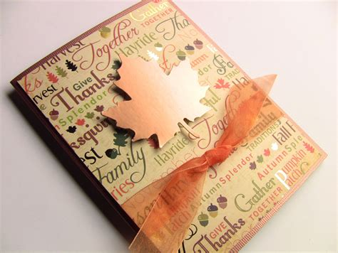 handmade thanksgiving card fall card autumn card copper