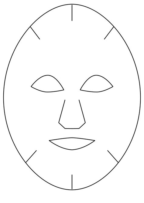 27 Images Of Full Face Mask Outline Template Kpopped Com Mask Template