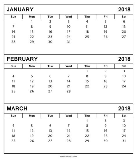 printable calendar january february 2018 february and march 2018 calendar printable