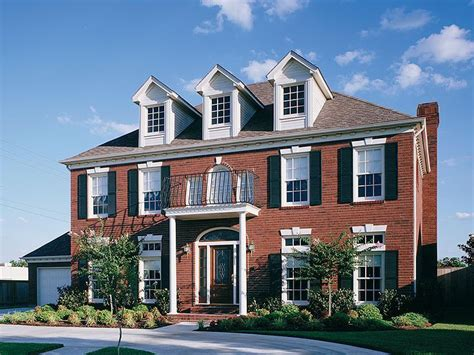 brick colonial house plans love the red brick colonial houses for the home pinterest