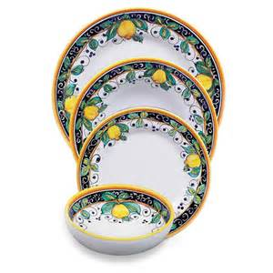 Italian Vases And Urns Alcantara Place Setting Italian Pottery Outlet