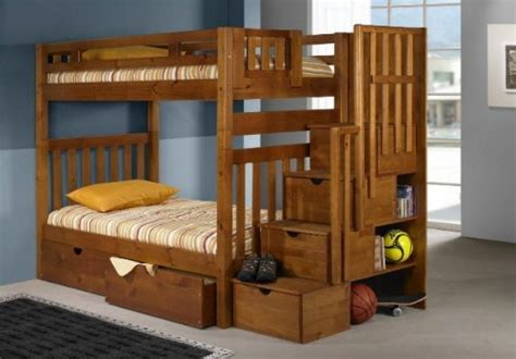 Wooden Twin Over Full Futon Bunk Bed