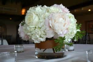 centerpieces with hydrangeas hydrangea and peony centerpieces bouquet wedding flower